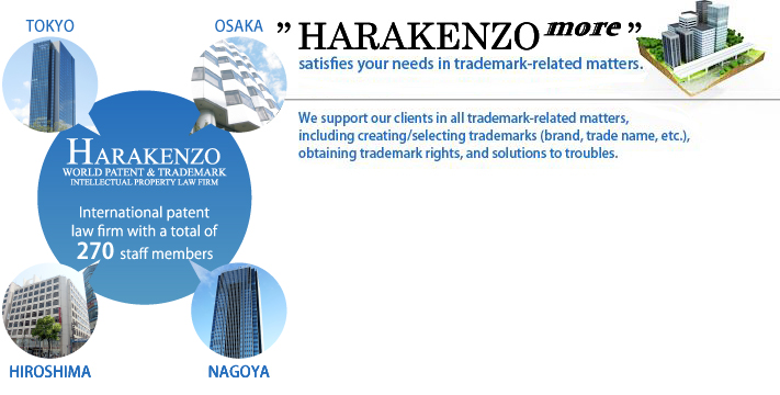 HARAKENZO satisfies your needs in trademark-related matters.